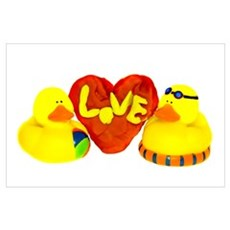 Lovely Valentine Duckies Poster
