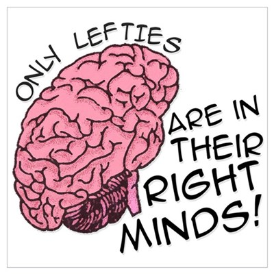Only Lefties Right Minds Canvas Art