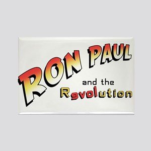 Ron Paul and the Revolution Rectangle Magnet