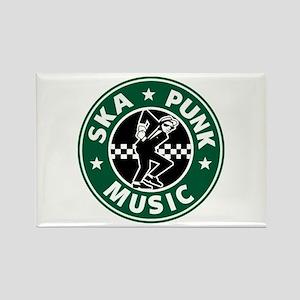 Ska Punk Rectangle Magnet