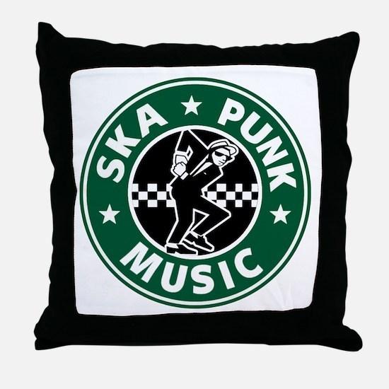 Ska Punk Throw Pillow