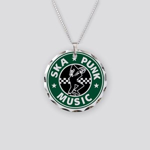 Ska Punk Necklace Circle Charm