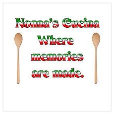 Nonna's (Italian Grandmother) Cucina Poster