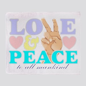 Love and peace 4 Throw Blanket