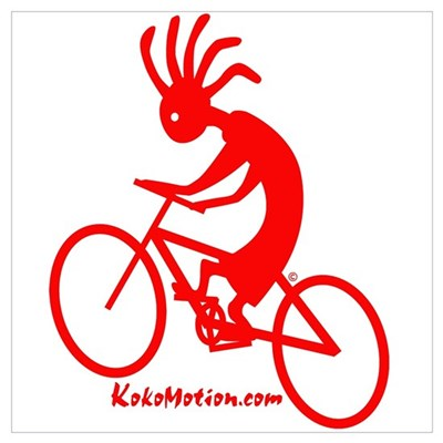 Kokopelli Mountain Biker Canvas Art
