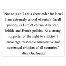 Alan Dershowitz Poster