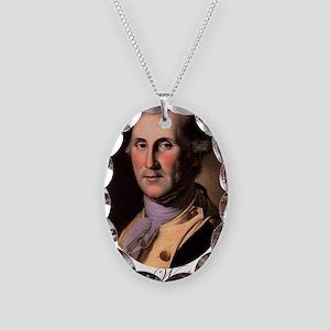 George Washington Necklace Oval Charm