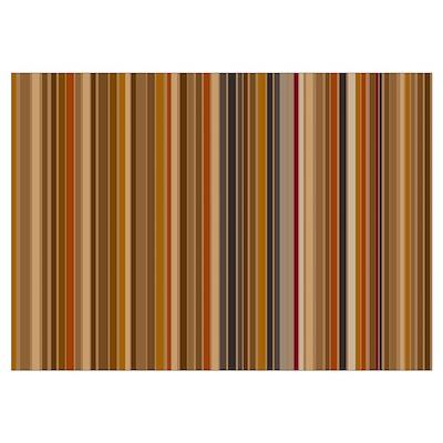 Mocha Bean Stripes Poster