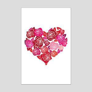 Rose heart Mini Poster Print