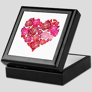 Rose heart Keepsake Box