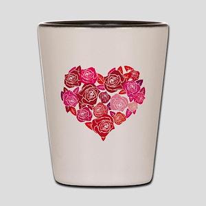 Rose heart Shot Glass