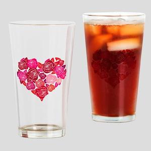 Rose heart Drinking Glass