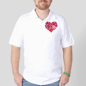 Rose heart Golf Shirt