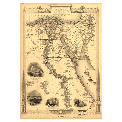 Ancient Egypt Map Poster