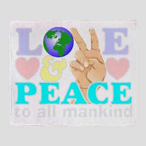 Global peace Throw Blanket