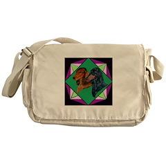 Dachshund Pair Messenger Bag