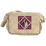 Harlequin Great Dane design Messenger Bag