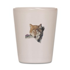 Timber Wolf Shot Glass