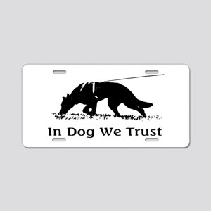 dogwetrust Aluminum License Plate