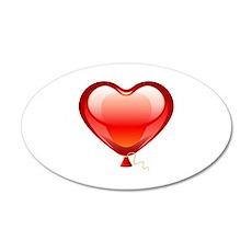 Balloon heart 22x14 Oval Wall Peel