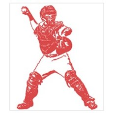 Yadi throwing Framed Print