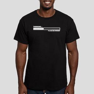 Thinking ... Men's Fitted T-Shirt (dark)