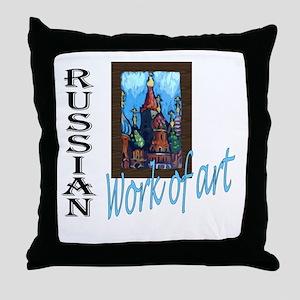 Russian WOA Throw Pillow