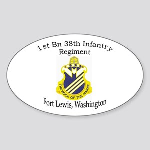 1st Bn 38th Infantry Sticker (Oval)