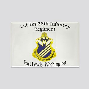1st Bn 38th Infantry Rectangle Magnet