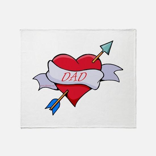 Dad Heart Throw Blanket