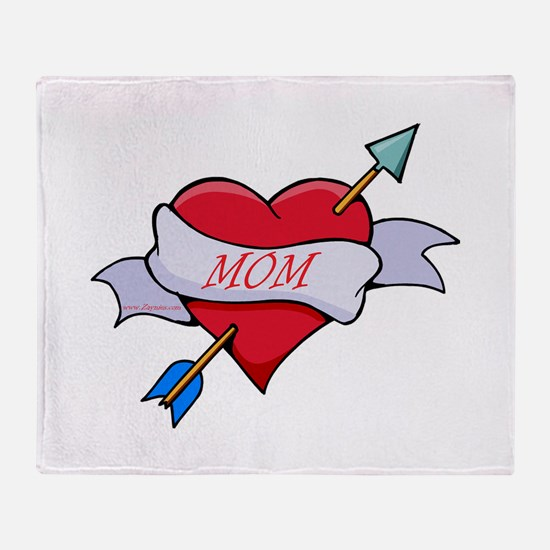 Mom Heart Throw Blanket