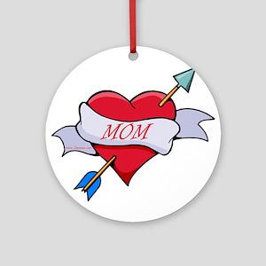 Mom Heart Ornament (Round)