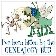 Bitten by Genealogy Bug Poster