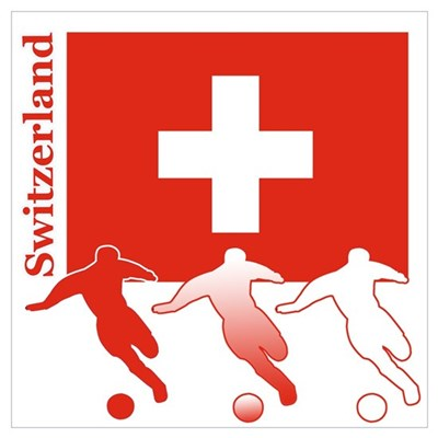 Switzerland Soccer Canvas Art