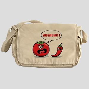 You are hot ! Messenger Bag