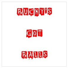 Bucky's Got Balls Poster