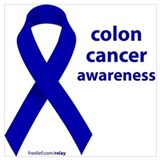 Colon cancer awareness Wrapped Canvas Art