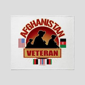 Afghanistan Veteran Flags Throw Blanket