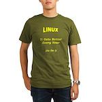 Linux Gets Better Organic Men's T-Shirt (dark)