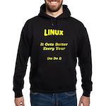 Linux Gets Better Hoodie (dark)