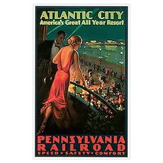 Vintage 1935 Atlantic City NJ Poster