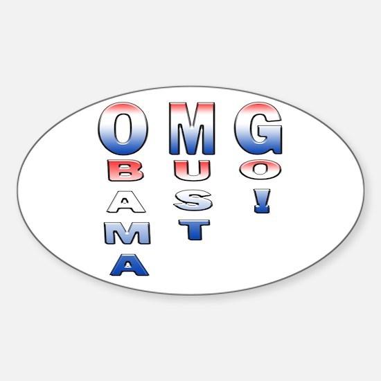Unique Obama must go Sticker (Oval)