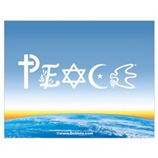 Peace On Earth at Sunrise Poster