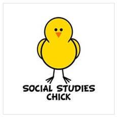 Social Studies Chick Poster