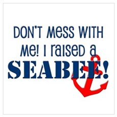 Raised a Seabee Poster