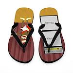 Sock Monkey Guitar Flip Flops