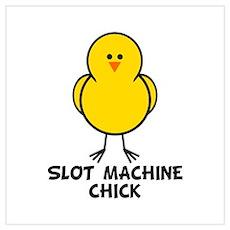 Slot Machine Chick Poster