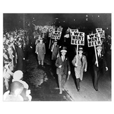 We Want Beer! Prohibition Protest, 1931 Framed Print