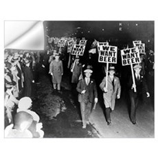 We Want Beer! Prohibition Protest, 1931 Wall Decal