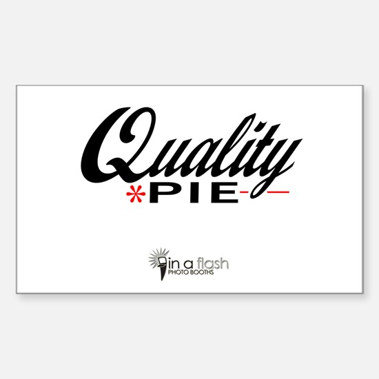 Quality Pie - In A Flash Phot Sticker (Rectangle)